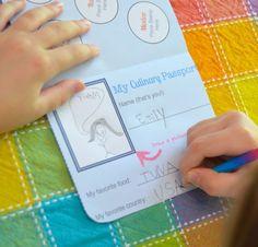Kids Culinary Passport -- free printable passport to cook & craft your way around the world w/ the kids. #KidsCulinaryPassport