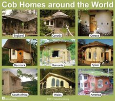 Cob houses around the world. Love that they're everywhere!