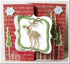 Joy To The World! created by Frances Byrne using Sizzix Fancy Flip Its Die; Sizzix Labels & Stitched Frames Framelits; Sizzix/Tim Holtz Holiday Joy Stamps & Framelits set