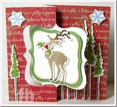 Joy To The World! created by Frances Byrne using Sizzix Fancy Flip Its Die; Sizzix Labels & Stitched Frames Framelits; Sizzix/Tim Holtz Holiday Joy Stamps & Framelits set