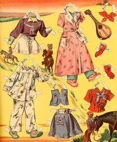 Ride a pony Paper Dolls Clothes Judy and Jerry 8 of 10