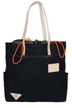 ATELIER DE L'ARMÉE :: canvas leather tote shopper bag