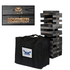 Giant Tumble Tower Game - Southern Connecticut State Owls
