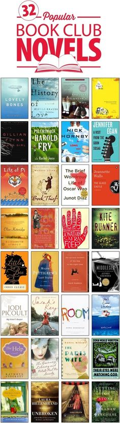 Popular Book Club Novels... I have read so many of these already.. would love to read them all.