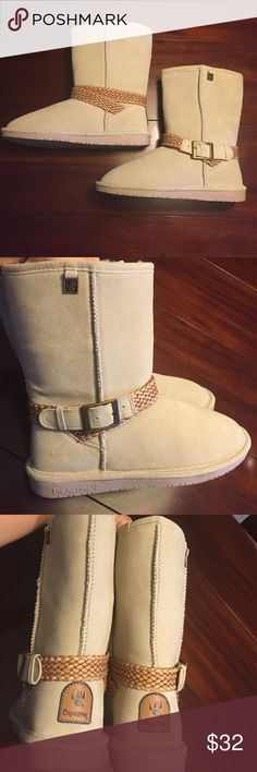 Bear Paw tan boots brand new NWOT Bear Paw boots, bought and never worn, perfect condition, very comfortable Bear Paw Shoes Winter & Rain Boots