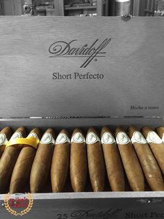 Davidoff Cigars​ Short Perfecto Delivers a silky smooth flavor for you to chew on, enticing aromatics that ignite the palate. You have the opportunity to attend our Special Davidoff Cigar Tasting & Pairing Event May 21, 6-10PM Visit our Website to RSVP (Limited to 60 Guests)