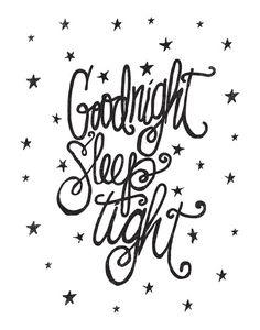 Goodnight Sleep Tight Art Print