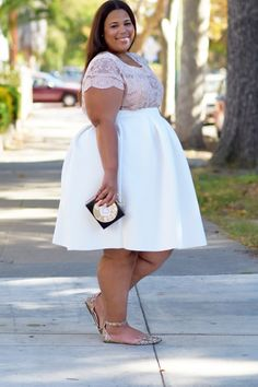 Plus Size Fashion for Women -  GarnerStyle | The Curvy Girl Guide: Budgetnista Find: My $18 Skirt