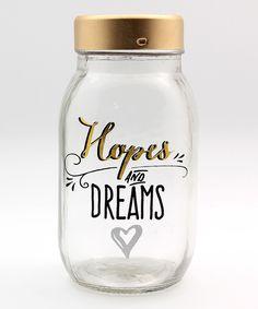 Hopes And Dreams Mason Jar Bank
