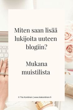 Uuden blogin perustaminen on aina jännittävää. Muistan niin ne hetket, kun kirjoitin jännittynein sormin ensimmäistä