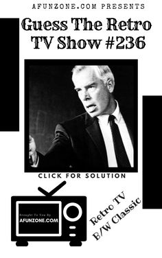 #afunzone #TV #Vintage #Television #Retro #Classic #Black & #White #Puzzle #syndicated #American #Police #detective #1950s #1960s Vintage Television, Police Detective, Classic Tv, 1960s, The Past, Tv Shows, Puzzle, Black White, Game