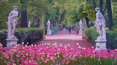 The Summer Gardens in St. Petersburg.. anyone who has read The Bronze Horseman will understand
