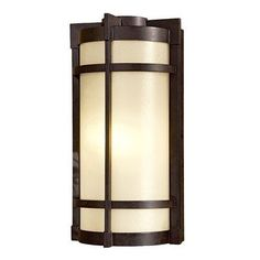 Mirador Flush Outdoor Wall Lantern - Energy Star Size: Small by Great Outdoors by Minka. $157.90. 72020-A179-PL Size: Small Features: -One light outdoor wall lantern.-Cream pearl mist glass.-Energy star rated. Includes: -Photocell included.-Small version accommodates: 1x13W spiral fluorescent bulb (included).-Large version accommodates: 1x26W triple fluorescent bulb (included). Options: -Available in two sizes. Color/Finish: -Textured french bronze finish. Dimensions: -Overall...