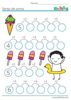 Interactive worksheets maker for all languages and subjects Kindergarten Math Worksheets, Worksheets For Kids, Teaching Math, Math Games, Preschool Activities, Math School, Primary Maths, 2nd Grade Math, Math For Kids