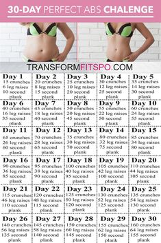 Perfect Abs 30 Day Challenge – Ein Monat Training, um Bauchfett zu schmelzen und… Perfect Abs 30 Day Challenge – One month of training to melt belly fat and … – Estella K. Perfect Abs 30 Day Challenge – One month of training to melt belly fat and … – fat Fitness Workout For Women, Fitness Workouts, Body Fitness, Health Fitness, Physical Fitness, Workout Exercises, Belly Exercises, Morning Exercises, Hard Ab Workouts