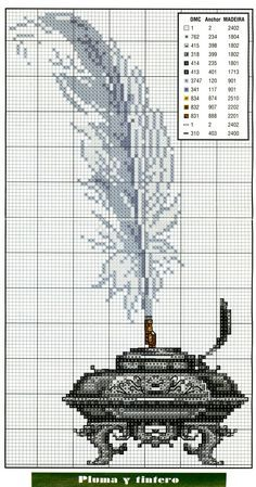 69 CAT-Punto Croce Kit con fili codificati DMC o solo grafico