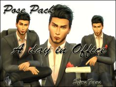 A day in Office Posepack by Sim4fun - The Sims Poses
