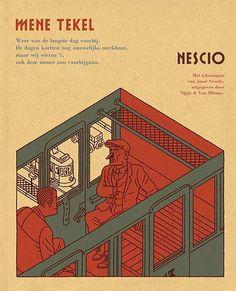 Mene Tekel - Nescio. Artwork by Joost Swarte.
