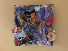 "Fiber Art by Celia Dionne/Clara's Loom. 3x3."""