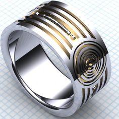 star wars c3po wedding ring