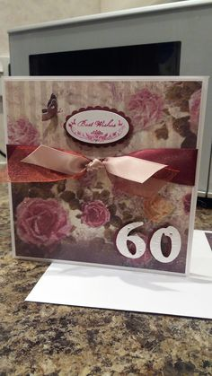 Birthday card with 3D butterflies. X