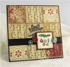 A Quilted Christmas by debbiedesigns - Cards and Paper Crafts at Splitcoaststampers