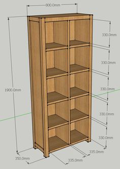 J Nelson Oak LP Record Storage Unit for up to 650 12 inch Vinyl Records image