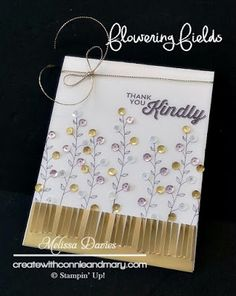 Stampin' Up! Flowering Fields by Melissa Davies @rubberfunatics Create with Connie and Mary Saturday Blog Hop #stampinup #rubberfunatics