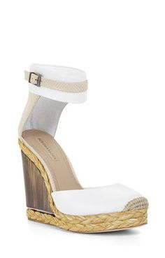 BCBG Frame Horn Wedge Sandal. Shop this and 31 other sandals perfect for your closet this spring.