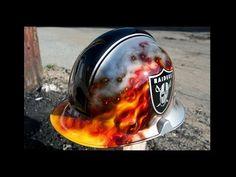 How To Airbrush Fire on a Custom Fireman Helmet - YouTube