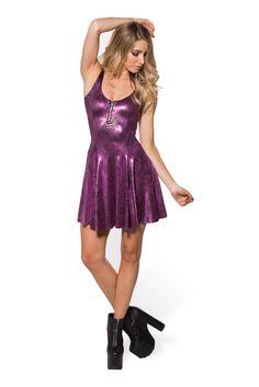 Disco Swirl Evil Zip Dress - LIMITED (WW $90AUD / US $85USD) by Black Milk Clothing