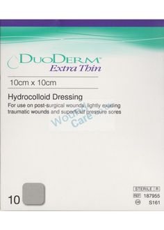 If you are looking for a hydrocolloid formulation dressing then Duoderm Dressing is ideal choice to apply. It creats a moist environment by controlling the gel. Wound Care, Latex Free, Things To Come, How To Apply, Polymers, Dressings