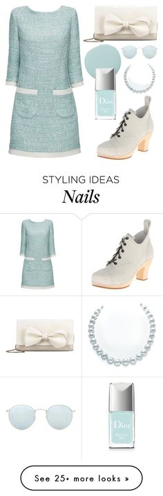 """Pale Aqua Minimalism"" by rebecca-miller-4 on Polyvore featuring Lattori, Swedish Hasbeens, RED Valentino, Smith & Cult, Christian Dior, Ray-Ban, women's clothing, women's fashion, women and female"