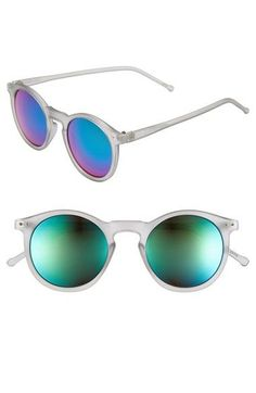 to a bright future! (which will be blurry becasue I need contacts - Shop now: 49mm Round Sunglasses