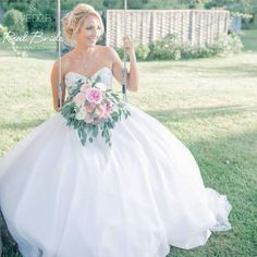 We just love this photo of our stunning real bride Zoe wearing '1205' by Anna Sorrano  We think she looks absolutely stunning  Is this your dream dress?  Please share your photos with us by emailing info@wed2b.co.uk