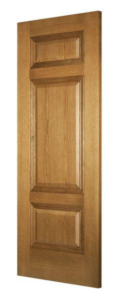 Balmoral 3-Panel Oak (Bespoke) - angle
