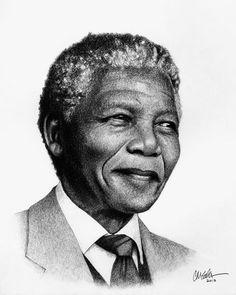 Nelson Mandela #portrait | christianelden.com » Black History Portraits #blackhistory