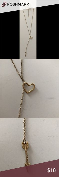 Francesca's Collections Heart and Arrow Necklace Francesca's Collections Gold Heart and Arrow Necklace. NWT. Ships same day/next day! Thank you Francesca's Collections Jewelry Necklaces