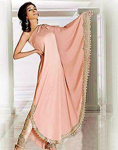 Paradise Pink Sylvania, Designer Ponchos for Women 2012, 2013 Collection, Resort Wear Kaftans, Ponchos Online Shop
