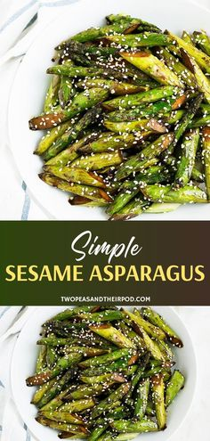 This quick and easy Simple Sesame Asparagus recipe is the perfect side dish for springtime. This asparagus pan recipe only takes 15 minutes to make! Asian Side Dishes, Veggie Side Dishes, Healthy Side Dishes, Side Dishes Easy, Vegetable Dishes, Vegetable Recipes, Asian Asparagus Recipes, Asparagus Side Dish, Simple Asparagus Recipe