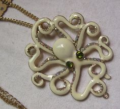 octopus jewelry | Items similar to white octopus Necklace on Etsy