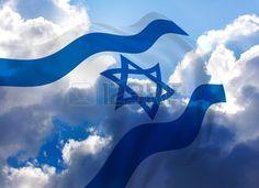 Flag of Israel - Stock Photo , Shavua Tov, Psalm 122, Idf Women, Flag Photo, Western Wall, Flag Art, Shabbat Shalom, Thinking Day, Three Dimensional