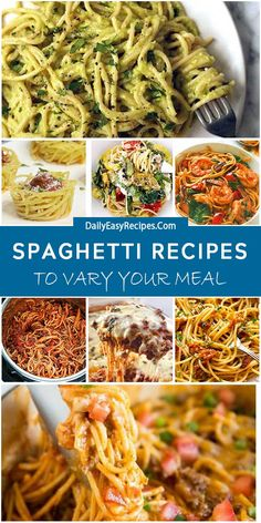 Spaghetti Dishes To Vary Your Dinner – Healthy Food: Recipes, food and diet, weight loss Pasta Recipes, Cooking Recipes, Healthy Recipes, Healthy Food, Healthy Meals, Best Dinner Recipes, Special Recipes, Lotsa Pasta, Good Food