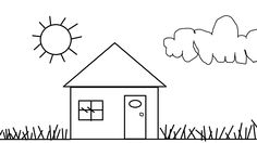 House Kids Coloring Pages To Print