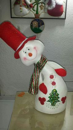 Christmas Crafts, Christmas Decorations, Christmas Ornaments, Holiday Decor, Snowman Crafts, Diy And Crafts, Santa, Dolls, Country