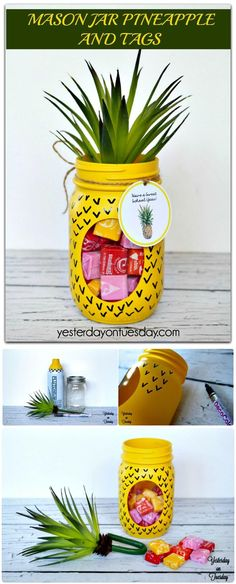 DIY Mason Jar Pineapple and Tags - 240 Easy Craft Ideas to Make and Sell - Page 7 of 24 - DIY & Crafts