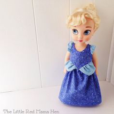 Cinderella Inspired Ball Gown ~ Shown on Disney Animator Doll