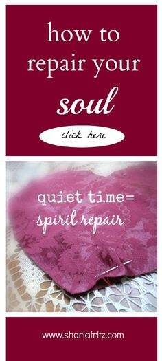 Here's something I use daily to experience soul repair.