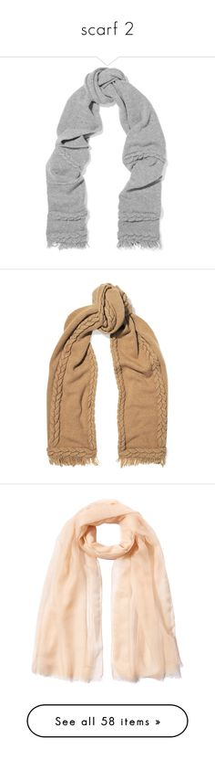 """""""scarf 2"""" by morongo ❤ liked on Polyvore featuring accessories, scarves, grey, woolen scarves, wool shawl, wool scarves, cable knit scarves, woolen shawl, sand and agnona"""