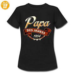 Papa des Jahres Jahrgang 1984 RAHMENLOS Geschenk Frauen T-Shirt von Spreadshirt®, XXL, Schwarz - Shirts zum 30 geburtstag (*Partner-Link)